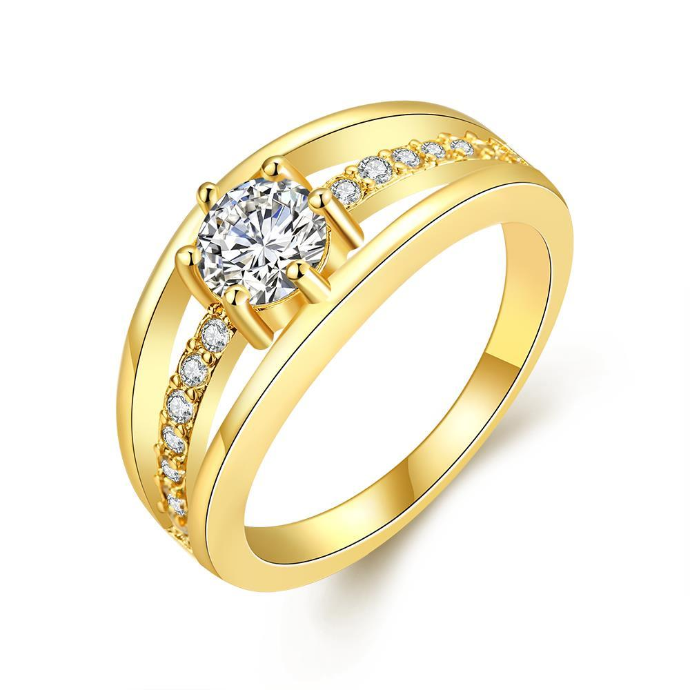 Vienna Jewelry Gold Plated Simple & Sophisticated Ring