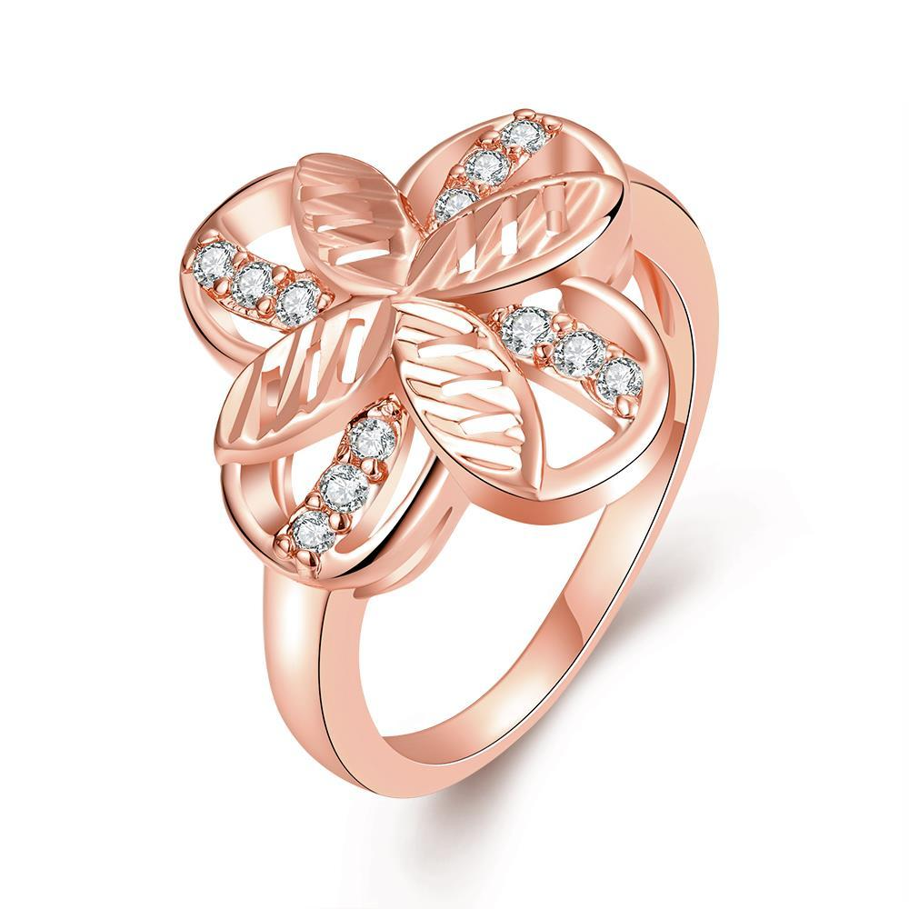 Vienna Jewelry Gold Plated Mini Butterfly Hollow Ring