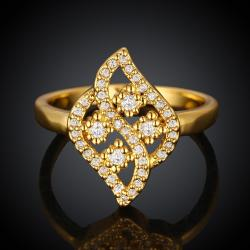 Vienna Jewelry Gold Plated Swivel Artistic Ring - Thumbnail 0