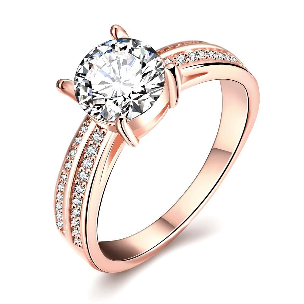 Vienna Jewelry Rose Gold Plated Madison Ave Inspired Ring