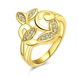 Vienna Jewelry Gold Plated Apple Bottom Design Ring - Thumbnail 0
