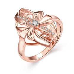 Vienna Jewelry Gold Plated Abstract Floral Petal Ring - Thumbnail 0
