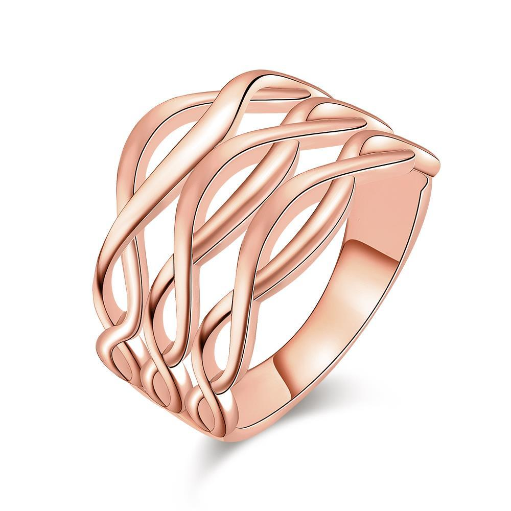 Vienna Jewelry Rose Gold Plated Horizontal Infused Ring - Thumbnail 0