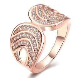 Vienna Jewelry Gold Plated Double Lined Infused Ring - Thumbnail 0