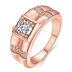 Vienna Jewelry Gold Plated Crystal Frame Ring - Thumbnail 0