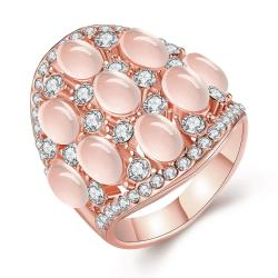 Vienna Jewelry Rose Gold Plated Multi Pearl & Jewels Covering Ring Size 8 - Thumbnail 0
