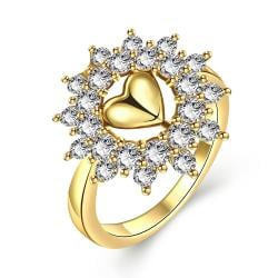 Vienna Jewelry Gold Plated Lovely Love Ring - Thumbnail 0