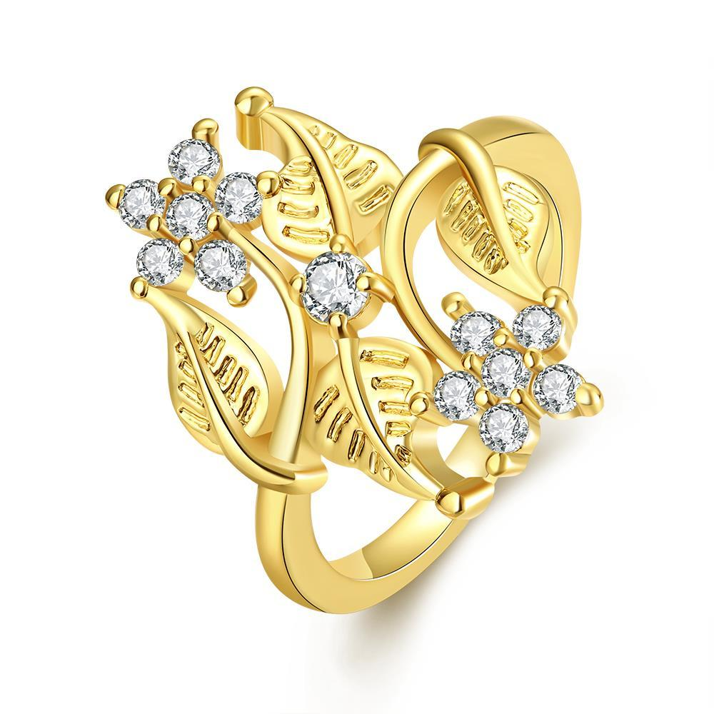 Vienna Jewelry Gold Plated Natural Branches Ring