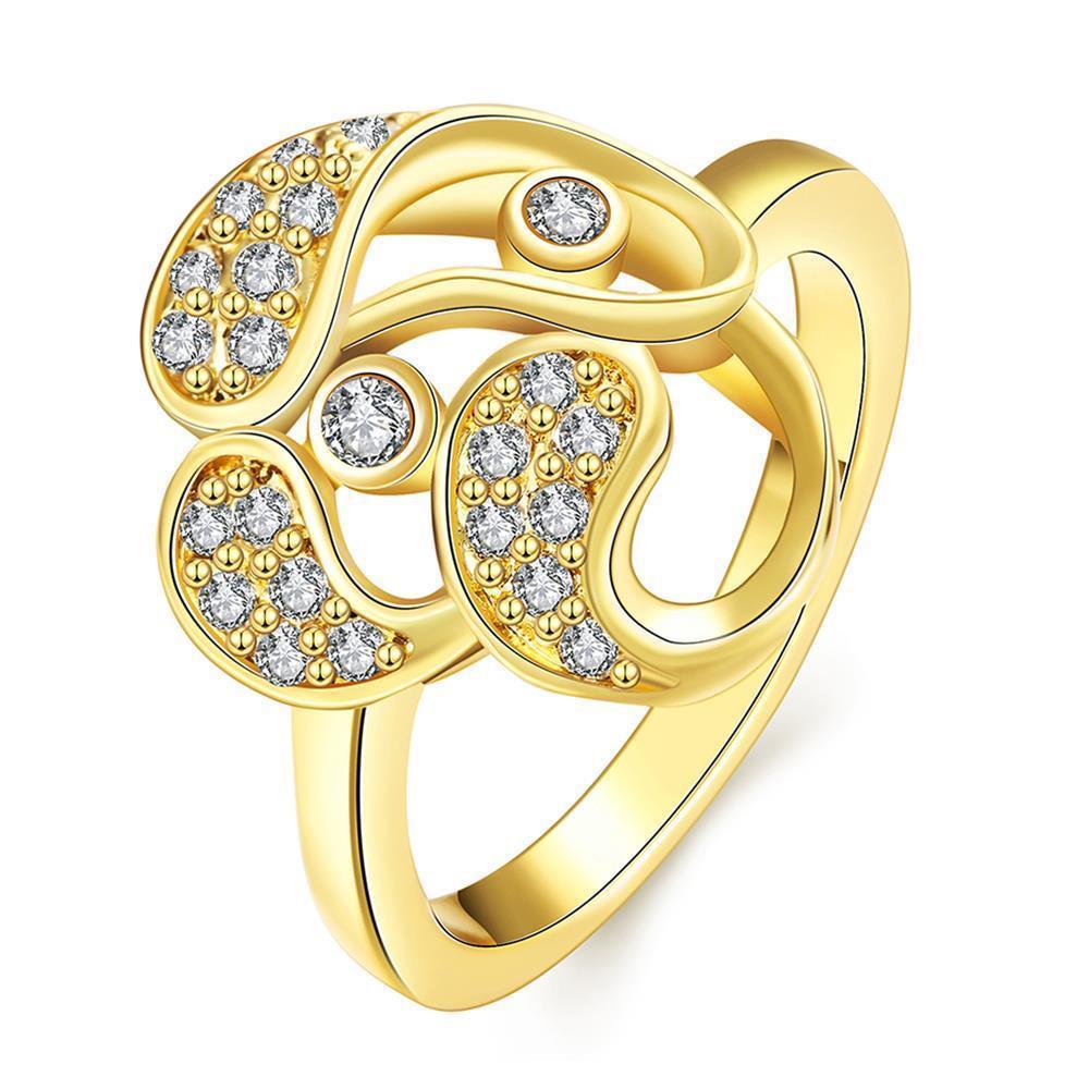 Vienna Jewelry Gold Plated Trio-Matrix Ring