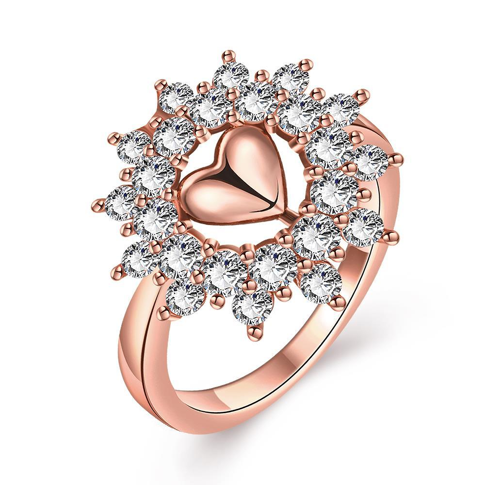 Vienna Jewelry Gold Plated Lovely Love Ring