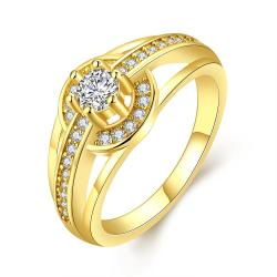 Vienna Jewelry Gold Plated Petite Circular Ring - Thumbnail 0