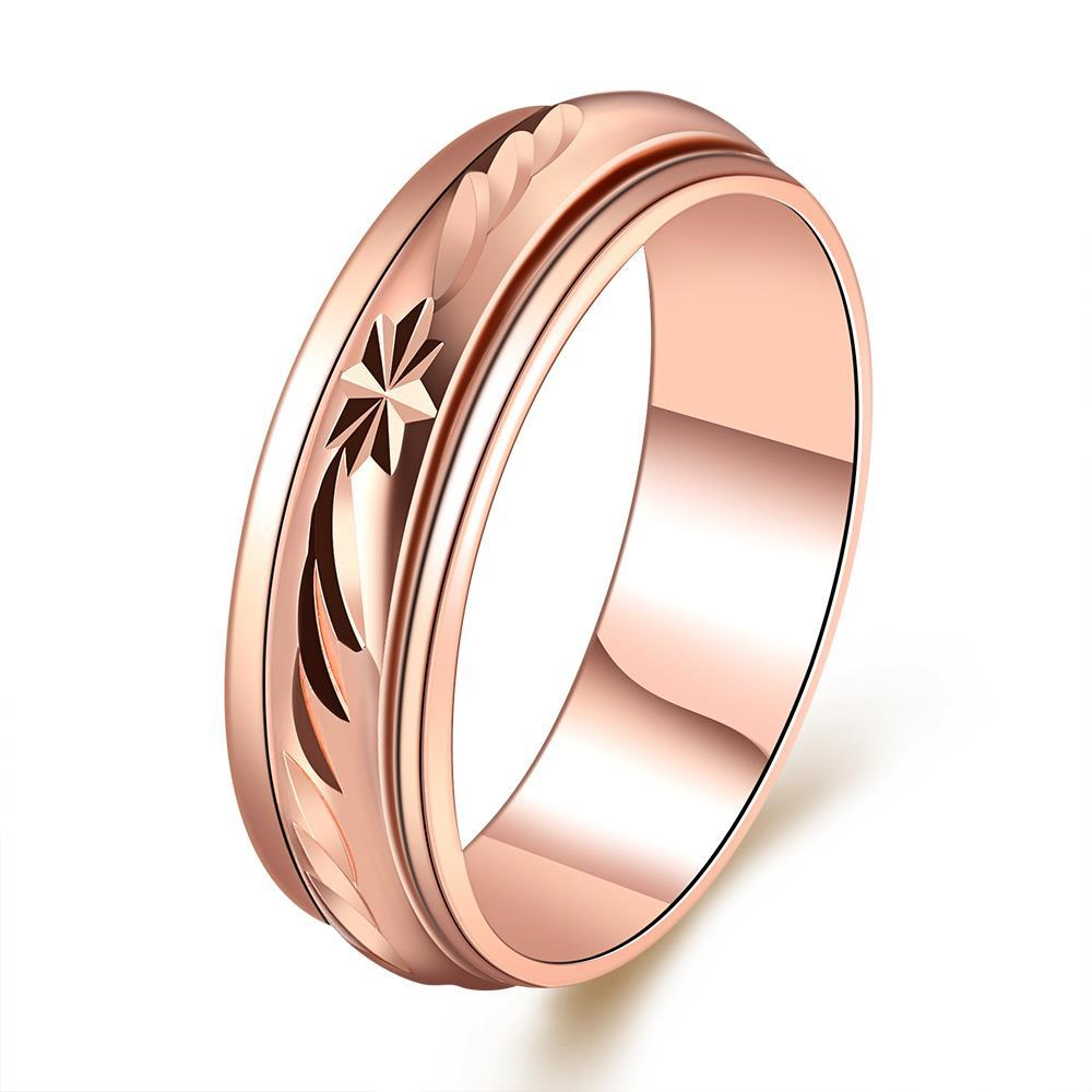 Vienna Jewelry Rose Gold Plated Roman Signing Emblem Band Ring Size 8