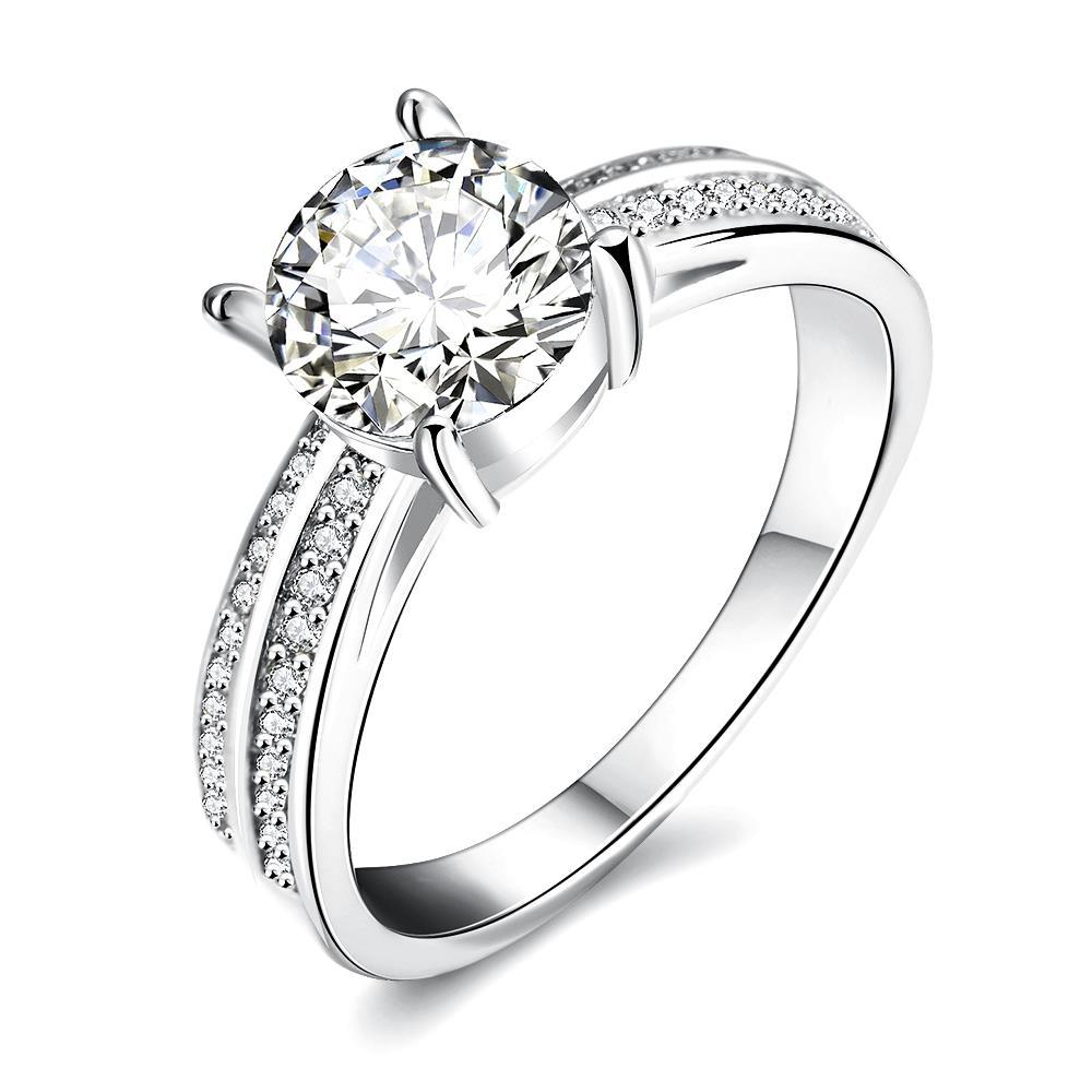 Vienna Jewelry White Gold Plated Madison Ave Inspired Ring