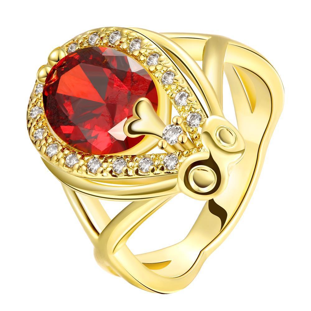 Vienna Jewelry Gold Plated Accent Solitaire Anniversary Ring