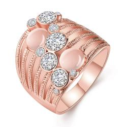 Vienna Jewelry Rose Gold Plated Crystal Ball Lining Covering Ring Size 8 - Thumbnail 0