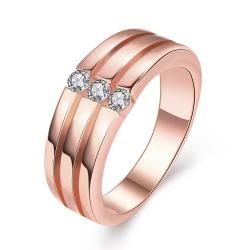 Vienna Jewelry Gold Plated Trio-Wedding Bands Rings - Thumbnail 0