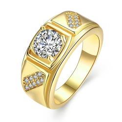 Vienna Jewelry Gold Plated Split Shank Promise Ring - Thumbnail 0