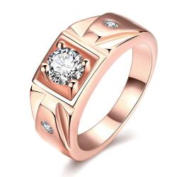 Vienna Jewelry Gold Plated Crystal Accent Promise Ring - Thumbnail 0