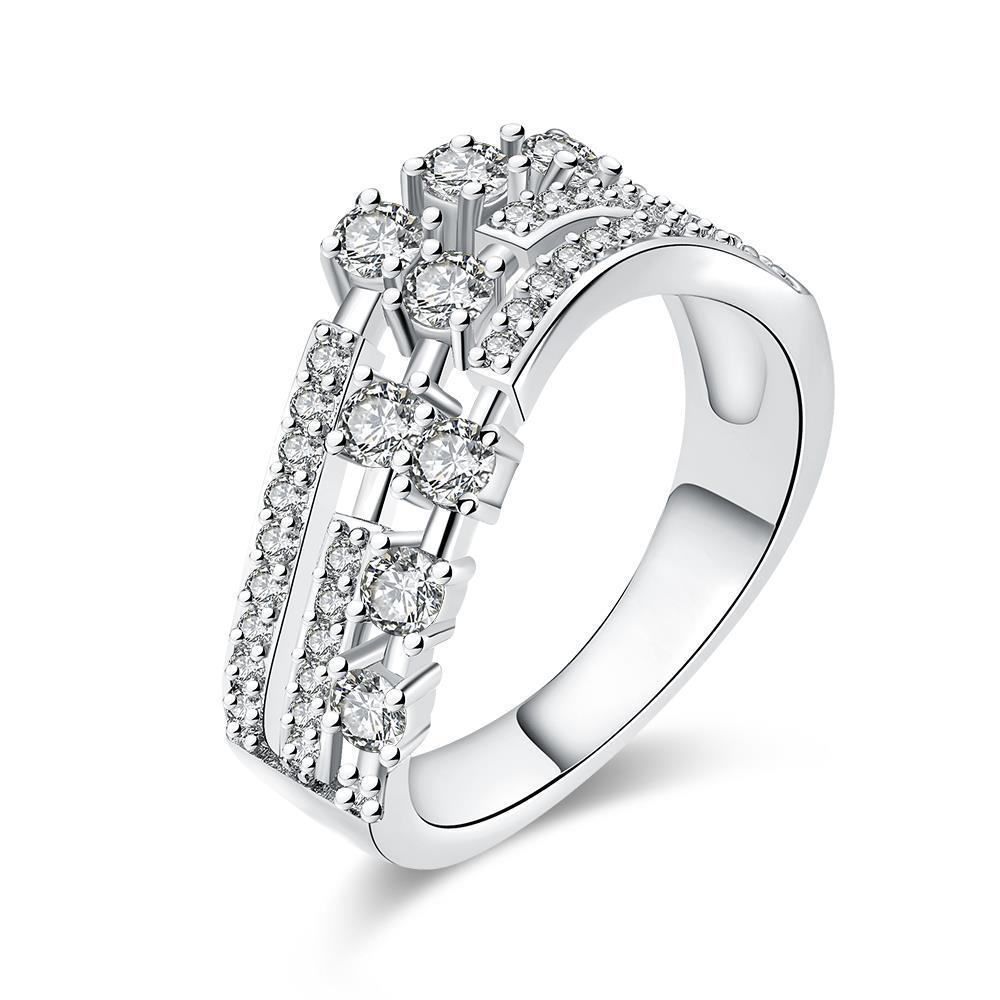 Vienna Jewelry White Gold Plated World Fusion Ring