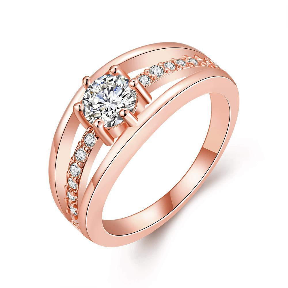 Vienna Jewelry Rose Gold Plated Simple & Sophisticated Ring