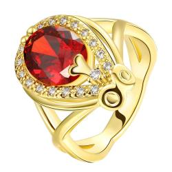 Vienna Jewelry Gold Plated Accent Solitaire Anniversary Ring - Thumbnail 0