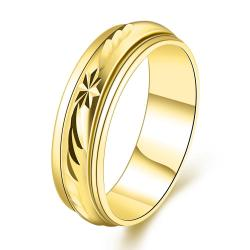 Vienna Jewelry Gold Plated Roman Signing Emblem Band Ring Size 8 - Thumbnail 0