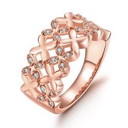 Vienna Jewelry Gold Plated X Marks The Spot Ring - Thumbnail 0