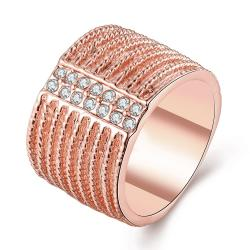Vienna Jewelry Rose Gold Plated Classical New York Band Ring Size 7 - Thumbnail 0
