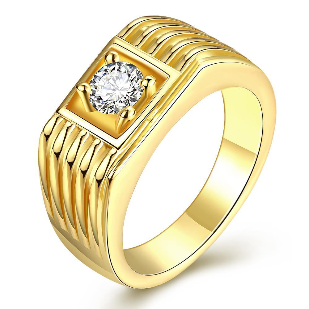 Vienna Jewelry Gold Plated Side Cut Crossover Ring