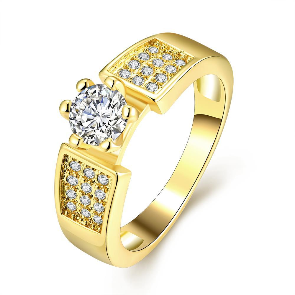 Vienna Jewelry Gold Plated The One and Only Wedding Ring