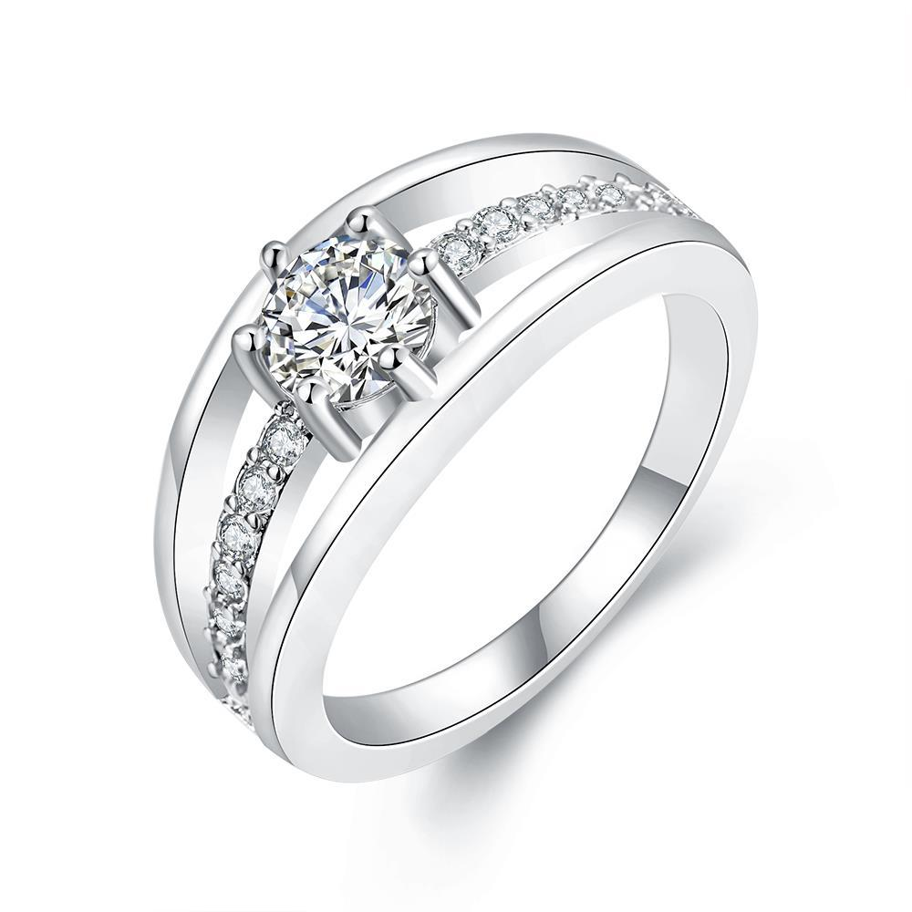 Vienna Jewelry White Gold Plated Simple & Sophisticated Ring
