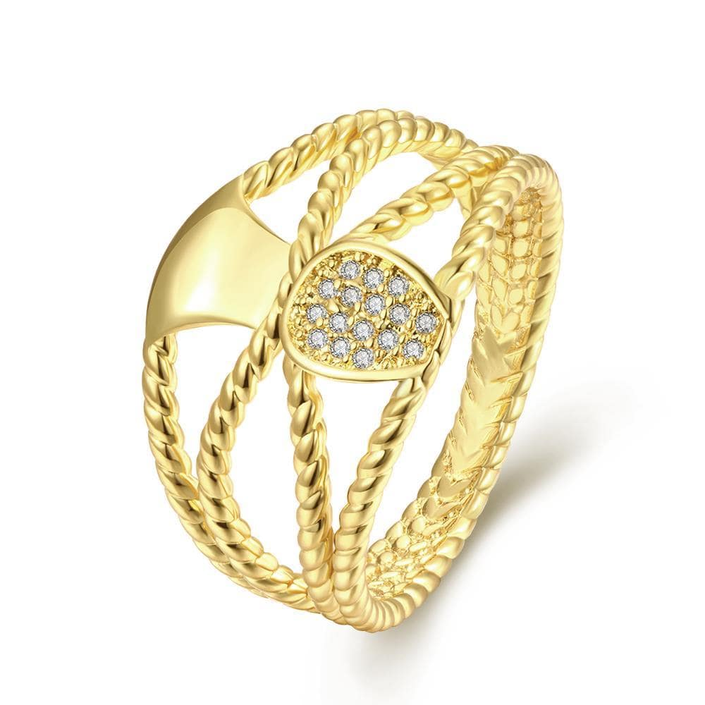Vienna Jewelry Gold Plated Overlayering Plated Ring