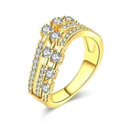 Vienna Jewelry Gold Plated World Fusion Ring - Thumbnail 0
