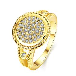 Vienna Jewelry Gold Plated Circular Jewels Ring - Thumbnail 0
