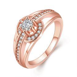 Vienna Jewelry Gold Plated Petite Circular Ring - Thumbnail 0