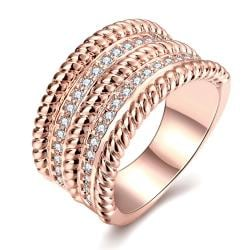 Vienna Jewelry Gold Plated Trio- Layered Ring - Thumbnail 0