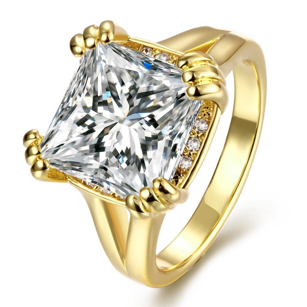 Vienna Jewelry Gold Plated Crystal Centerpiece Ring