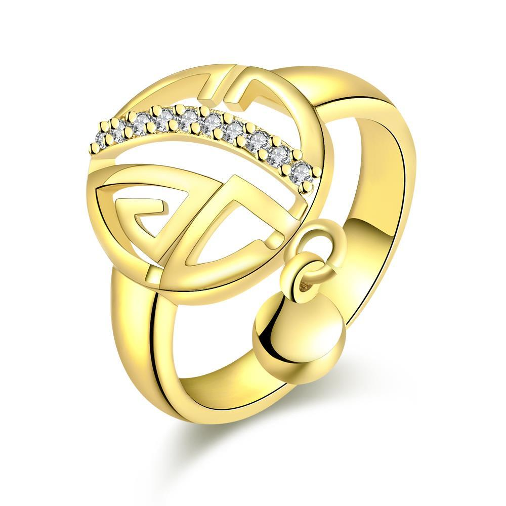 Vienna Jewelry Gold Plated Clock Wise Ring