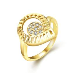 Vienna Jewelry Gold Plated Round of Laser Cut Ring - Thumbnail 0
