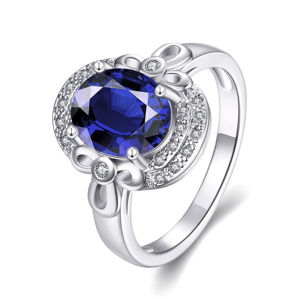 Vienna Jewelry Gold Plated Circular Inprint Gemstone Ring