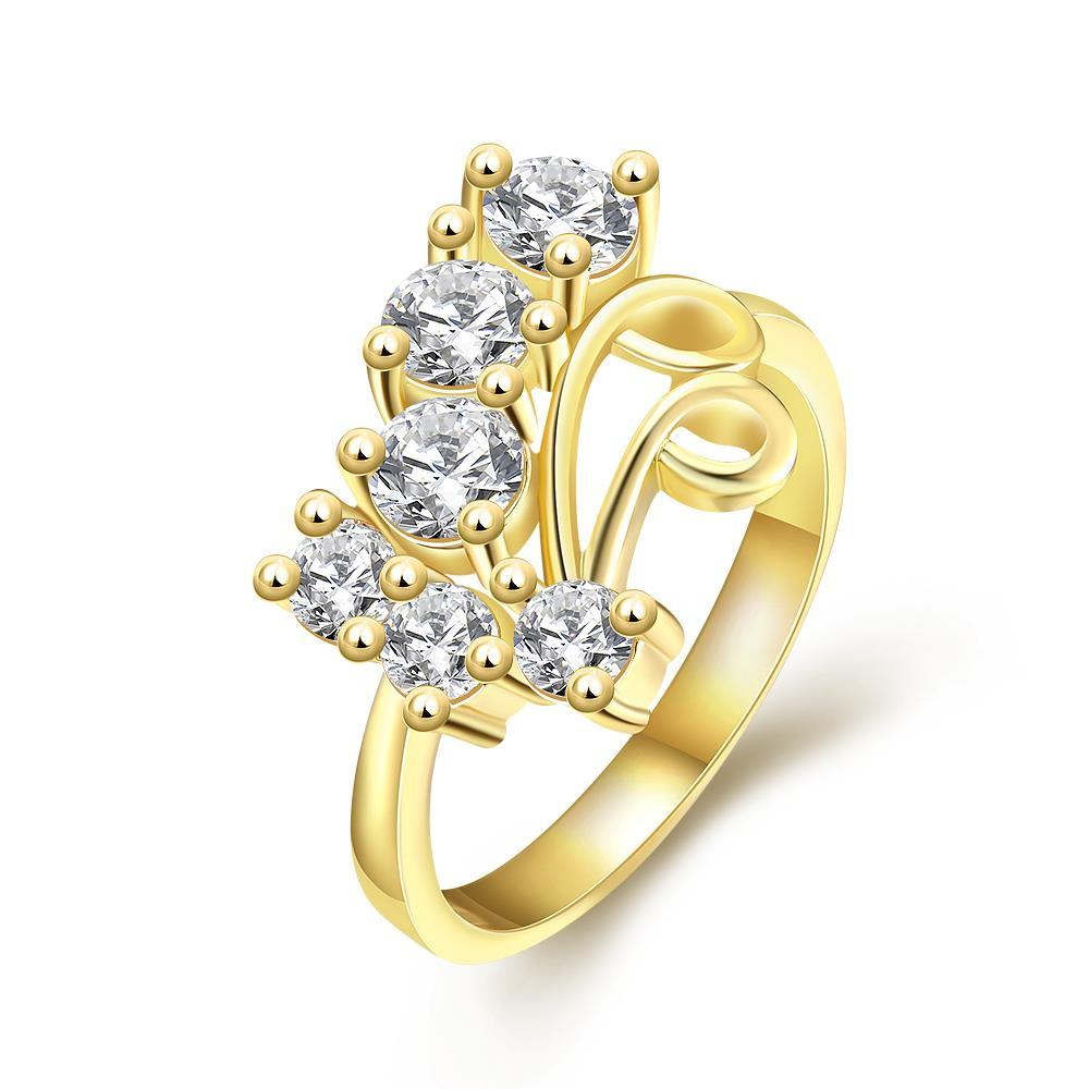 Vienna Jewelry Gold Plated A Cluster of Jewels Ring