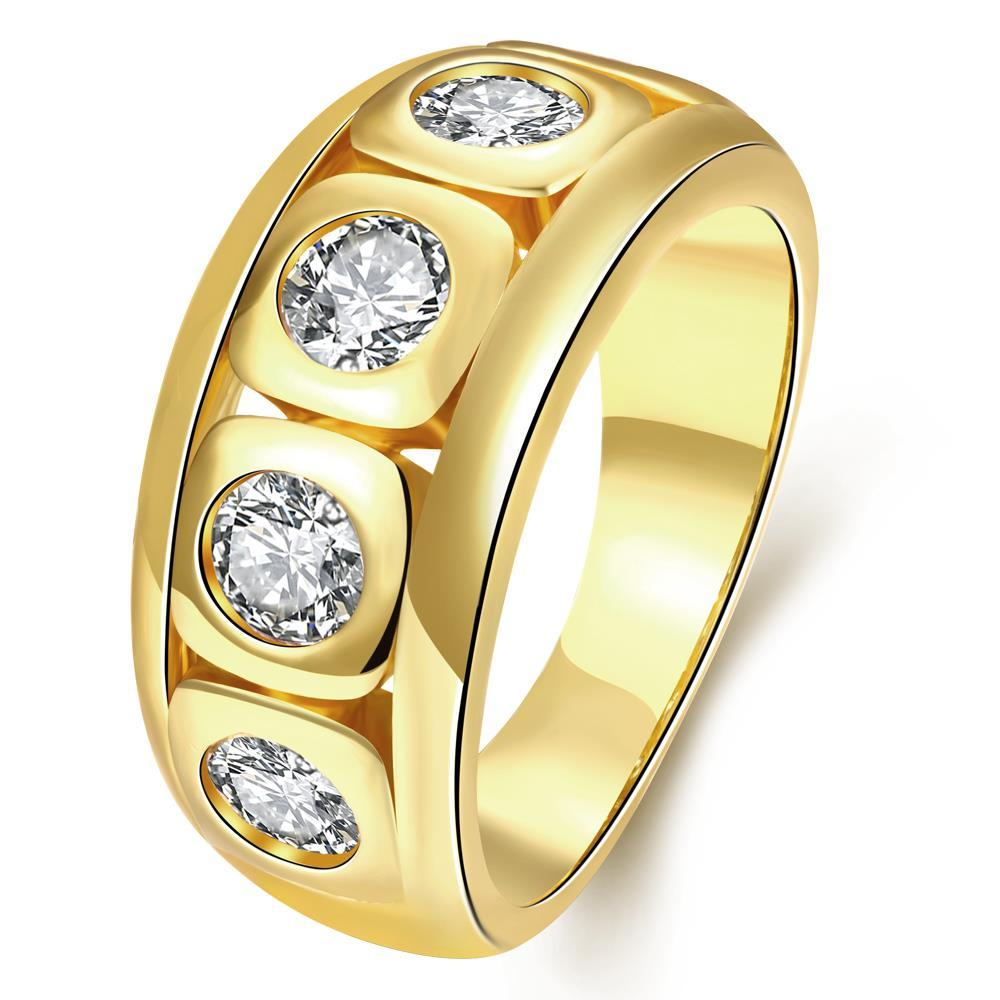 Vienna Jewelry Gold Plated Full of Crystal Jewels Ring