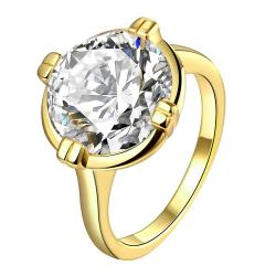 Vienna Jewelry Gold Plated Crystal Vintage-Style Ring - Thumbnail 0