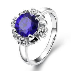 Vienna Jewelry Gold Plated Blaring Sun Design Gemstone Ring - Thumbnail 0