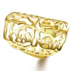 Vienna Jewelry Gold Plated Laser Cut Vertical Ring - Thumbnail 0