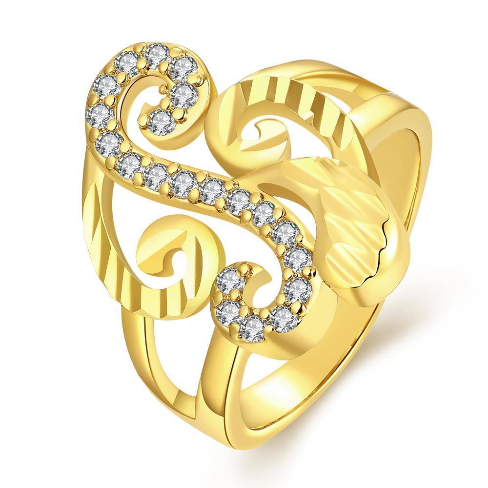 Vienna Jewelry Gold Plated Musical Design Inspired Ring