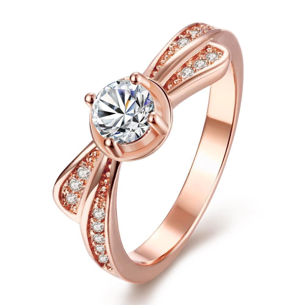 Vienna Jewelry Gold Plated Petite Crystal Ring
