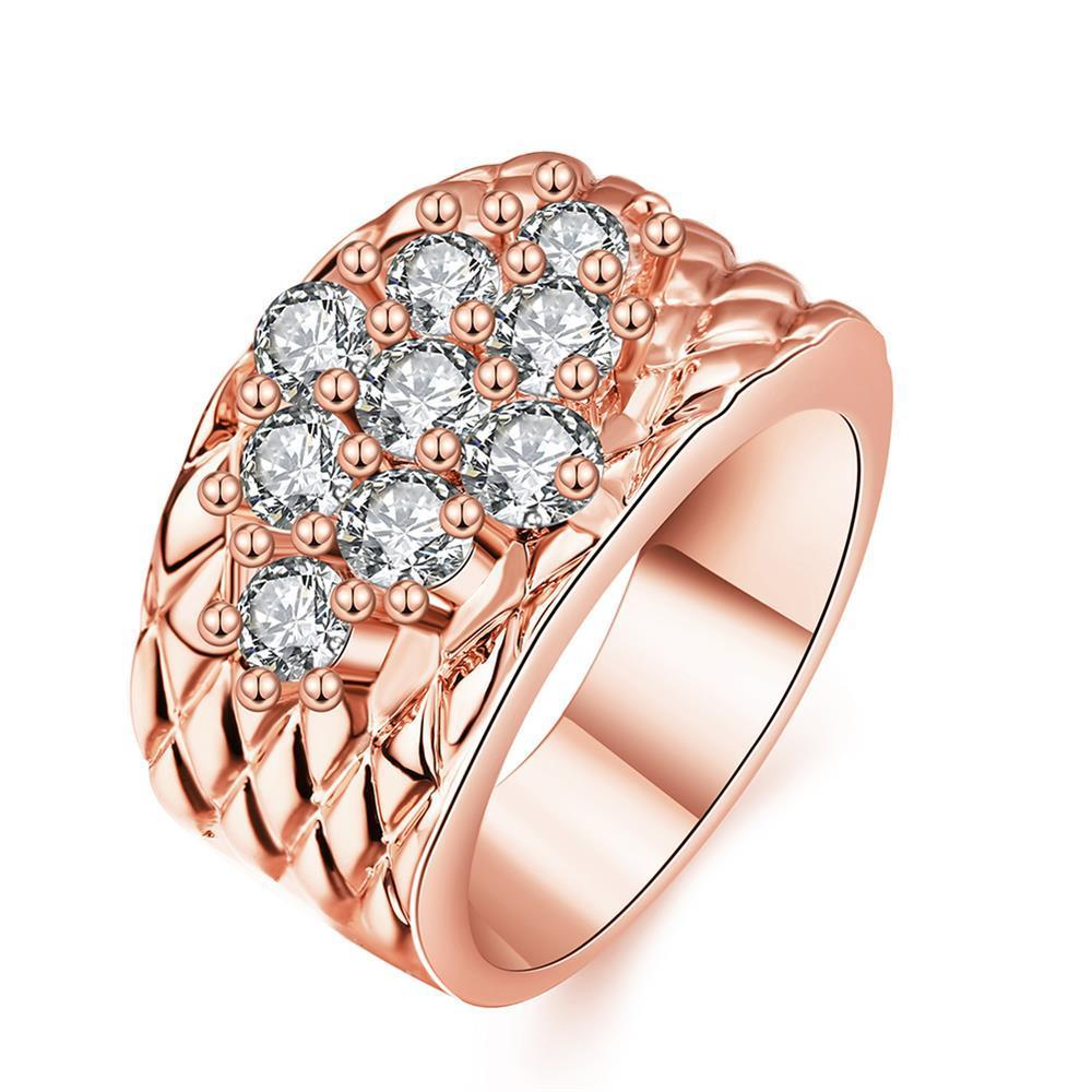 Vienna Jewelry Rose Gold Plated Classic Royalty Inspired Ring