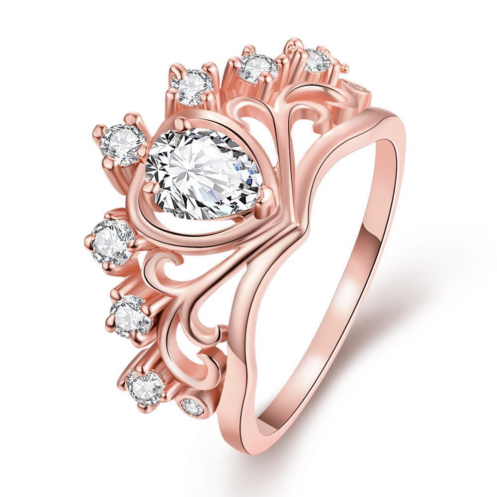 Vienna Jewelry Gold Plated Princess's Tiara Ring