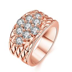 Vienna Jewelry Rose Gold Plated Classic Royalty Inspired Ring - Thumbnail 0